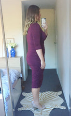 Carmen Plum Midi Dress