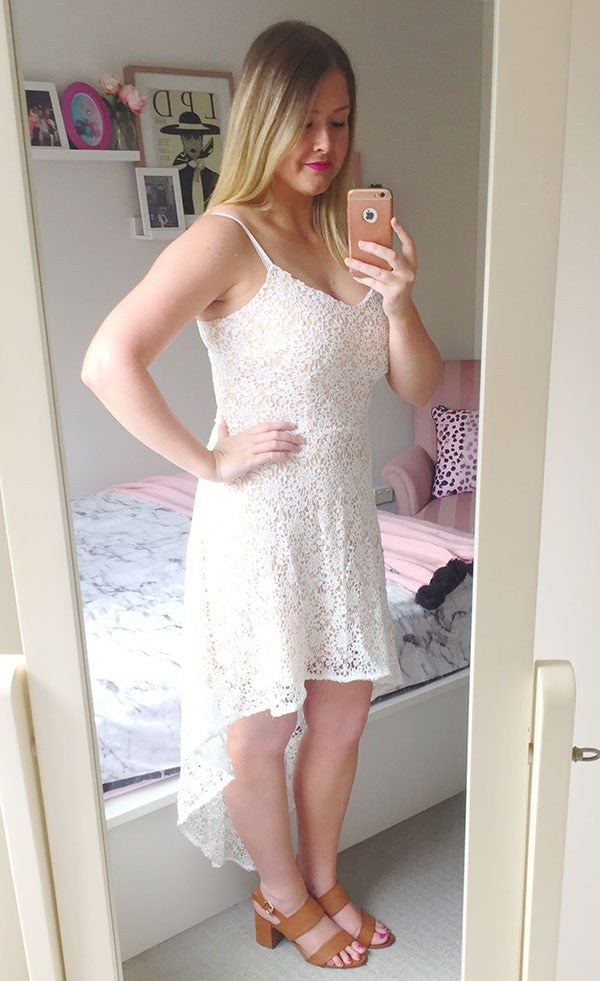 Caroline White Lace Dress