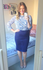 Catwalk Navy Pencil Skirt