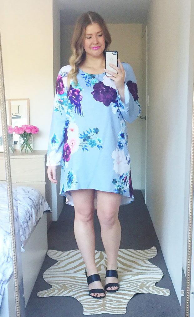 Charlie Grey Floral Dress
