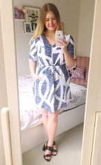Chelsea Blue Print Shirt Dress