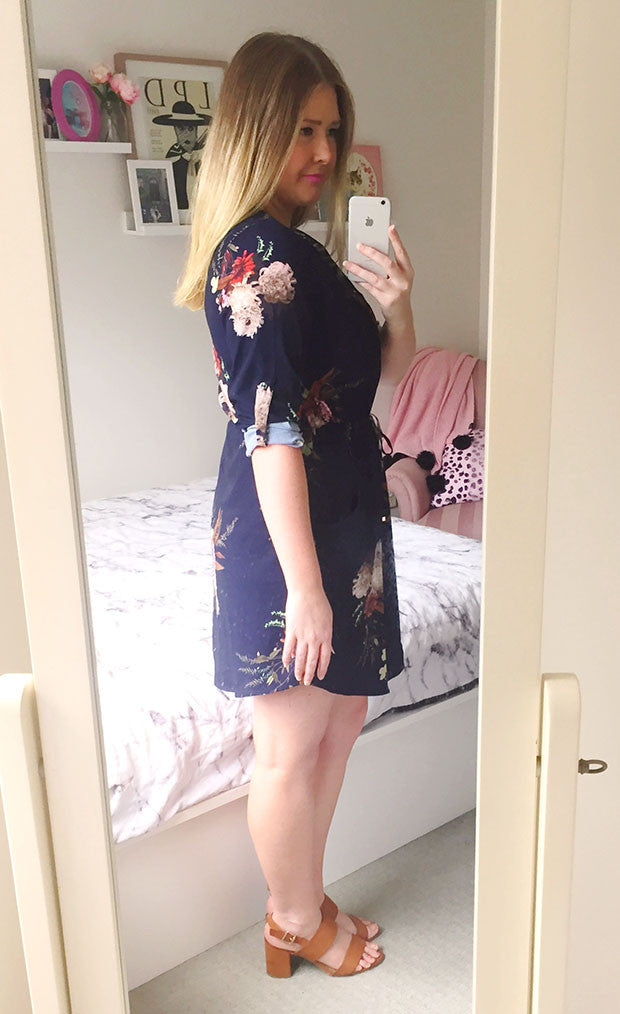 Chelsea Navy Floral Shirt Dress