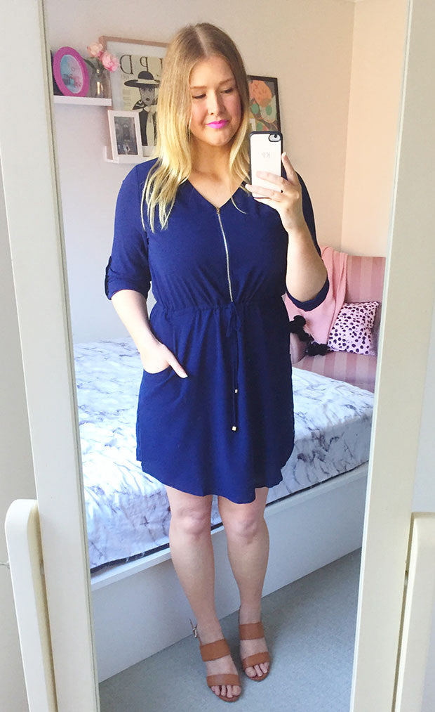 Chelsea Navy Shirt Dress