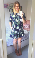 Chloe Navy Floral Dress