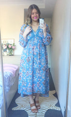 Claire Light Blue Floral Dress