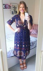 Claudia Paisley Print Dress