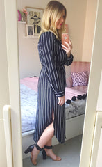 Claudia Black Stripe Dress