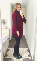 Cosy Up Burgundy Knit