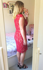 Dorothy Burgundy Lace Dress