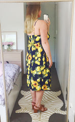 Eddie Lemon Print Dress