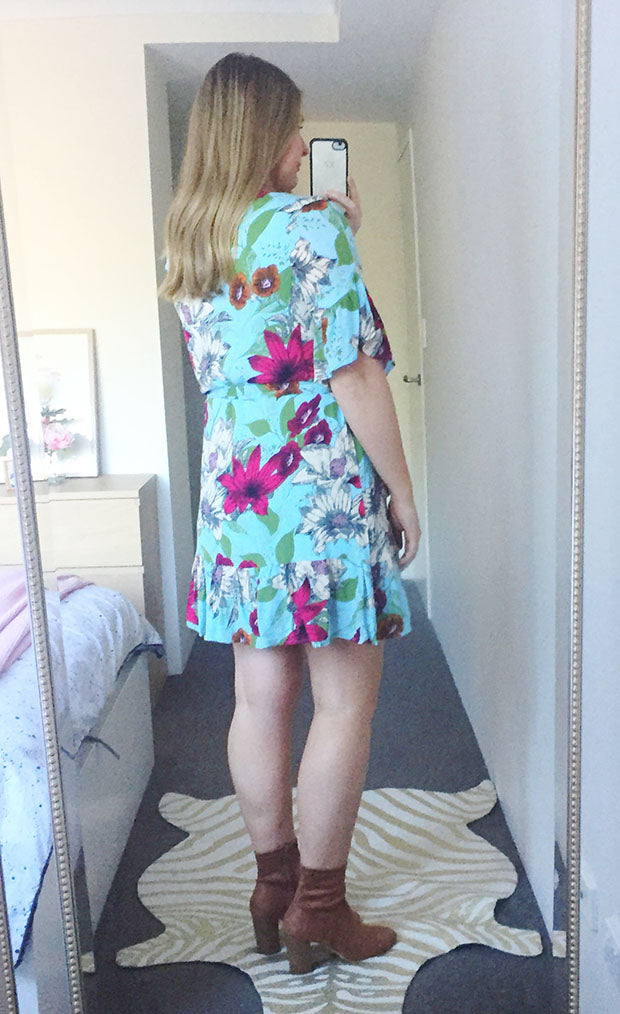 Ellie Blue Floral Dress