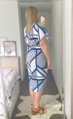 Elliot Blue Aztec Dress
