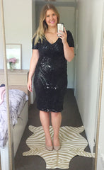 Elsie Black Sequin Dress