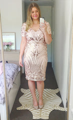 Elsie Gold Sequin Dress