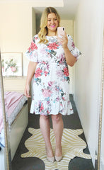 Emma White Floral Dress