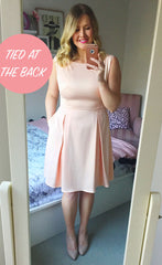 Enchanted Apricot Bow Dress