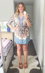 Erica Leopard Kaftan Dress