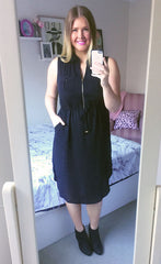 Fiona Black Shirt Dress