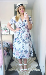 Florence White Floral Dress