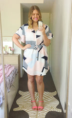 Gemma Geometric Print Dress