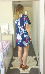 Gemma Navy Floral Dress