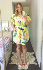 Gemma Yellow Floral Dress