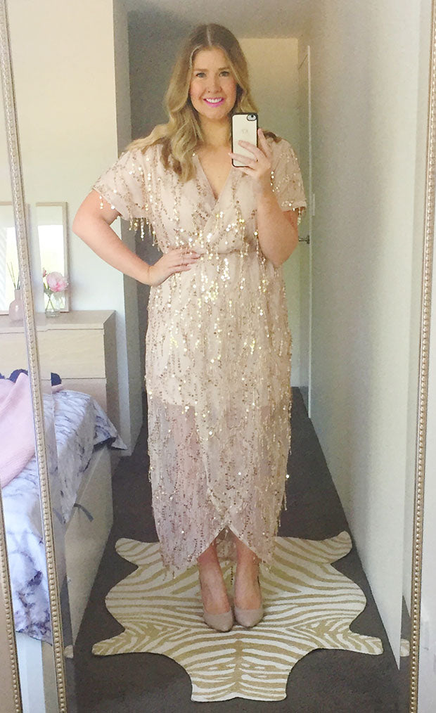 Glamour Gold Sequin Dress
