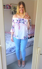 Glance White Floral Top