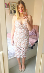 Harmony Blush Lace Dress