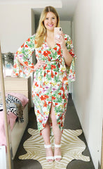 Hayley White Floral Dress