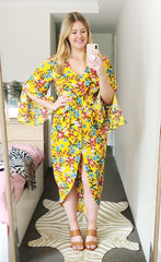 Hayley Yellow Floral Dress