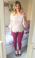 Heavenly Blush Lace Top