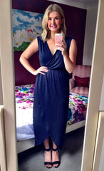 Hideaway Navy Maxi Dress
