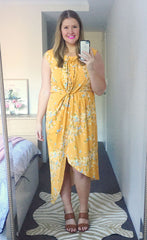 High Flyer Mustard Floral Dress