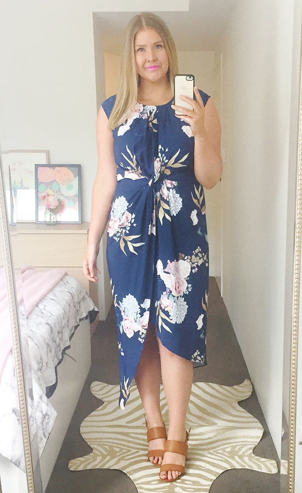 High Flyer Navy Floral Dress