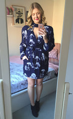 Illusion Navy Floral Dress