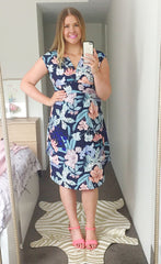 Jacqui Tropical Floral Dress