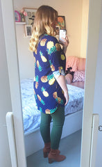 Jade Pineapple Print Shirt