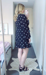Jenna Polka Dot Wrap Dress