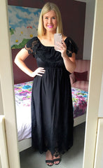 Jess Black Lace Maxi Dress