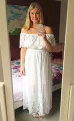 Jess White Lace Maxi Dress