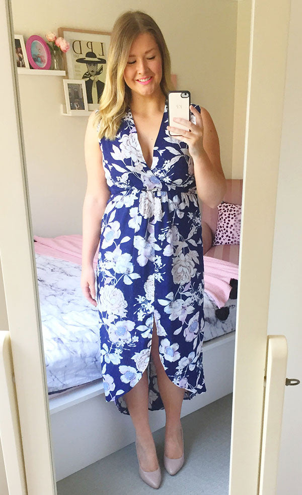 Jodie Navy Print Dress