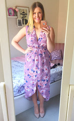 Jodie Pink Print Dress