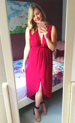 Jodie Burgundy Dress