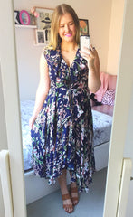 Justine Tropical Navy Dress