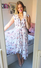 Justine White Floral Dress