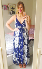 Kai Navy Floral Maxi Dress