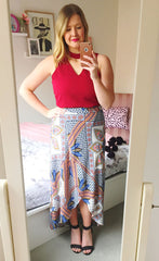 Karen Aztec Wrap Skirt