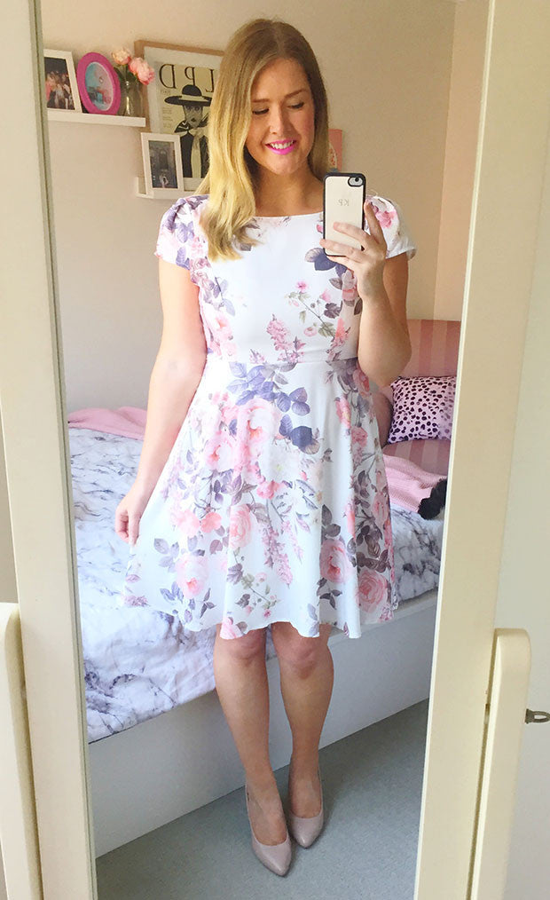 Katie Pink Floral Dress