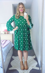 Kim Green Polka Dot Dress